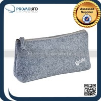 Heather Grey Promotional Felt Cosmetic Bag