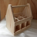 FSC pine wood handmade natural color wooden 6 pack beer holder