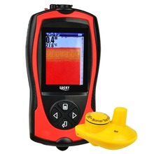 Lucky Fish Finder 2~147ft Depth Range Colored TFT LCD Display Fishfinder Sensor Sonar Frequency