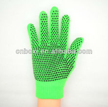 High quality acylic magic gloves with pvc dots