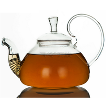 hot selling Amazon transparent clear glass induction glass tea pot sets 400ml,600ml