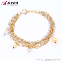 74147- xuping new fashion cheap multicolor gold tassels bracelet
