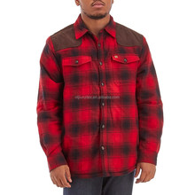 Winter Layering Sherpa Lined Long Sleeve Button Down Plaids Flannel Shirt
