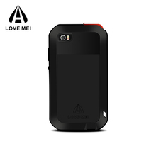 LOVE MEI Heavy duty Armor Waterproof Shockproof Metal Alloy cell phone case mobile phone case for Xiaomi Note 2