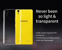 EXCO High Clear Transparent Mobile Phone Case soft TPU Case for lenovo k3 / k500