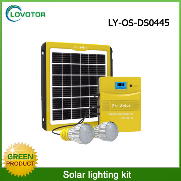 New technology in solar energy led lamp lights house