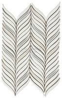 Feather 3D handmade ceramic mosaic tile