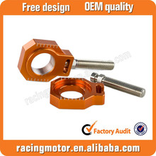 Motocross Rear Axle Blocks Chain Adjuster For KTM 125 250 350 450 SX/SX-F/XC/XC-F 2013 14 15