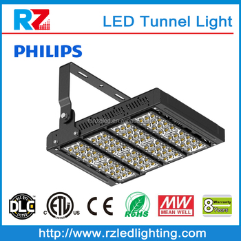 DLC Energy saving high efficiency commercial 200000 lumens ip67 waterproof led tunnel light ce