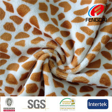 A106 giraffe velboa animal print faux fur fabric