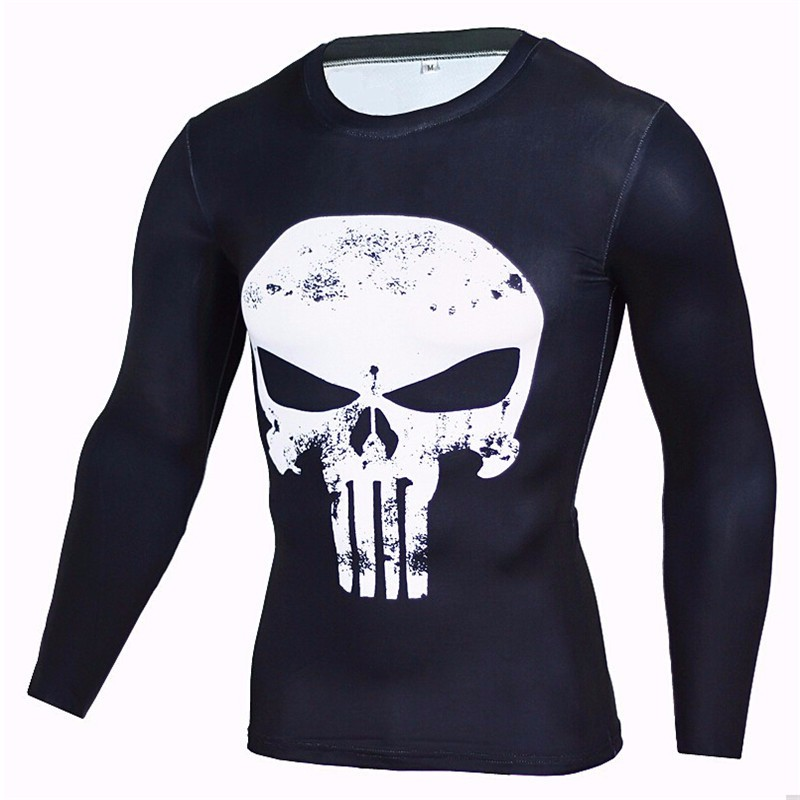 various designs hero printed fast dry tight fit t shirts/yyd super hero printed long sleeve t shirts /hot sell t shirts