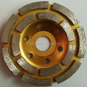 4Inch100mm Diamond Double Row Grinding Cup Wheel For Concrete And Masonry