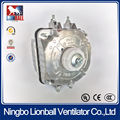 YJF shaded pole motor of 220V industrial refrigerator evaporator