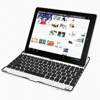Aluminum Case Bluetooth Wireless Keyboard for Apple the new iPad 2 3 4 KKB007