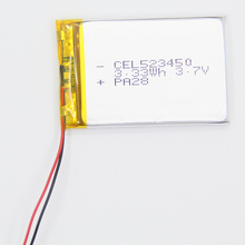 China Supplier 3.7 Volt Li-polymer Rechargeable battery / 3.7V 380mAh Lipo battries