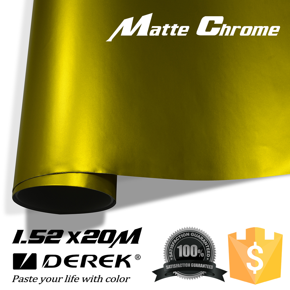 3 years warranty 12 Colors 1.52*20 meters Matte Metallic Car Wrap Bubble Free Car Sticker Vinyl Car Wrap