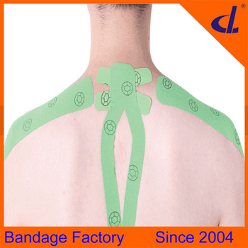 Muscle protection waterproof sports multicolor kinesiology tape neck for athletes