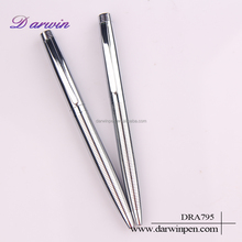 Factory price Logo printed steel metal ball pen , metal pen