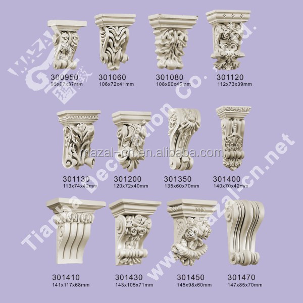 PU Exotic Corbel for Decoration Accessories