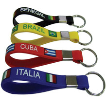 Boce the cheapest promotional customized silicone key ring