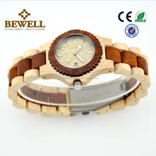 New Style Watch Women Bewell Wooden Watch Maple and Red Sandalwood