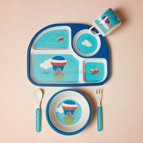 BPA Free Children Baby Kids Melamine Dinner Set For Feeding
