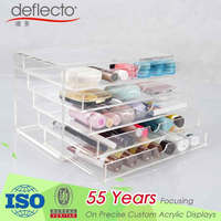 New design wholesale acrylic makeup organizer with 5 drawers and raw material pass REACH