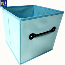Nonwoven fabric laundry bin/foldable storage basket with handle