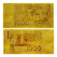 Exquisite Handicrafts Germany 1000 Deutsche Mark Pure 24k Gold Banknote For House Decoration