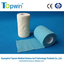 Printed medical & sport hand-tear nonwoven cohesive elastic bandage for human & animal (latex free)
