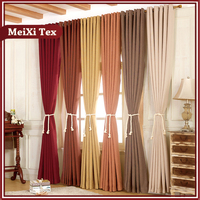 230GSM wide width fabrics cheap rod pocket thermal insulated blackout curtains