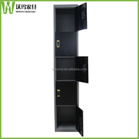 Cheap digital card lock function black metal locker 5 tier door gym storage cabinet