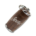 Promotional Eco-friendly Wooden Oak Barrel Wood USB Flash Drive With Custom Logo Gift Package