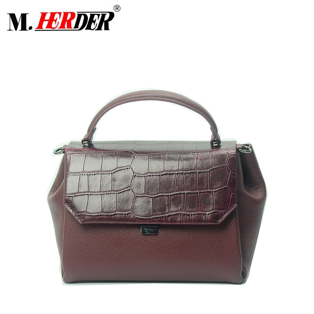 MD9107 High-end Indian Leather Bag Lady Genuine Handbag Alligator Luxury Bags