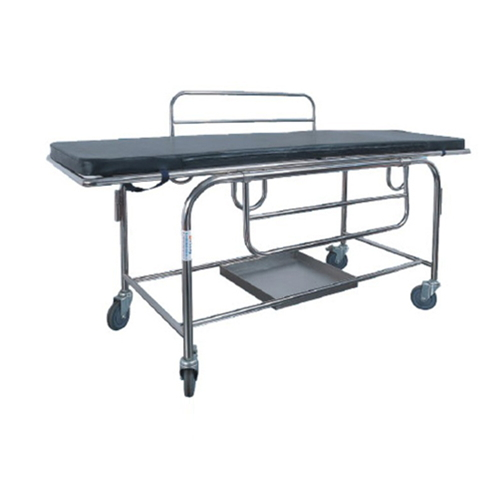 Stainless Steel Medical Gurney Hospital Patient Trolley Emergency Trolley Medical Equipment