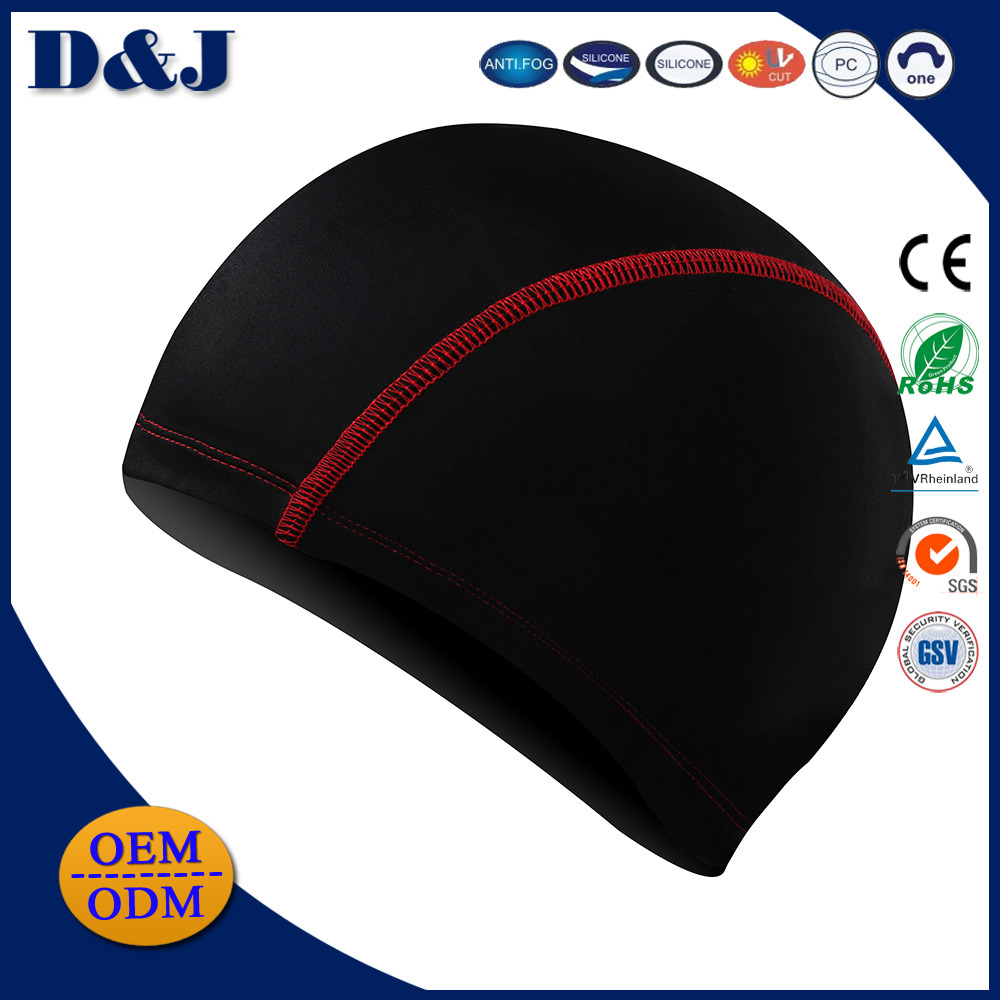 2017 Popular Comfortable Customized Nylon Spandex Swimming Caps for Adults