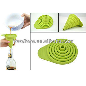Kitchen Cooking Retractable Silicone Funnel