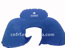 Inflatable flocked pvc neck pillow with high rest Inflatable U-shape pillow/2011 hottest inflatable neck pillow