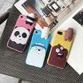 Cartoon Soft Silica Gell TPU Back Case Cover For iphone 7