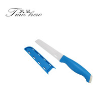 3inch Hot Selling ABS Blue Blade Fruit Kitchen Ceramic Knife knives With Sheath