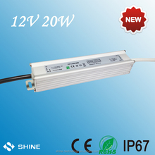 CE RoHS approved 20W 12V LED power supply aluminum casing Led Driver