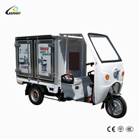 Hot sale 850w cargo electric tricycle with cabin