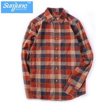 Mens Flannel Long Sleeve Soft Quilted shirt