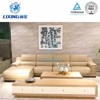 Furniture living room leather sofa bed set designs modern l shape sofa