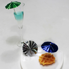 wholesale colorful umbrella cocktail party fruit picks