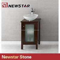 Inn vanity with top mount sink