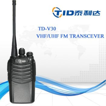 TID TD-V30 1500mAh Li-ion Battery VHF 5W UHF 4W Professional High Quality Handheld Two Way Radio