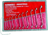 KENNEDY - RING SPANNER SET 11PC - 6-32MM C/VANADIUM