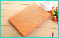 Multicolored genuine Pu leather book style folding stand cover for iPad table case for iPad 2 3 4