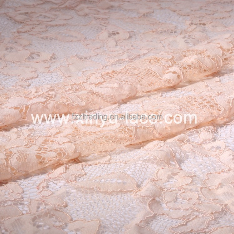 Machine Knitted chemical lace embroidery fabric